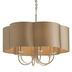Arteriors Rittenhouse 6 Light Antique Silver Chandelier @Layla Grayce, Gorgeous in family room with silk striped drapes, hung close to ceiling.