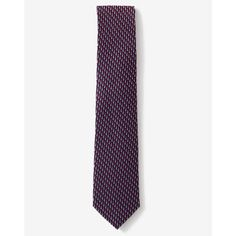 Express Narrow Micro Print Silk Tie ($30) ❤ liked on Polyvore featuring men's fashion, men's accessories, men's neckwear, ties and pink