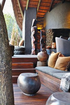 An exclusive look at the newly transformed Singita Boulders lodge, where safari style is being radically redefined African Room, African House, South African Homes, African Interior Design, African Design, African Style, Ethno Design, Design Design, Villa Design
