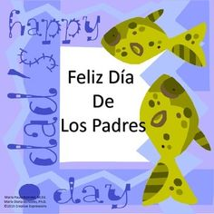 These are 8 cards in English and Spanish with Happy Father's Day and Feliz Dia De Los Padres messages. There are 4 cards in black and white and 4 are in color.  They were designed to help students learn how to say Happy Father's Day in Spanish.  Students can enjoy coloring and decorating a Father's Day card in Spanish.