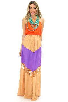 MIA COLOR BLOCK MAXI DRESS | www.hauteandrebellious.com