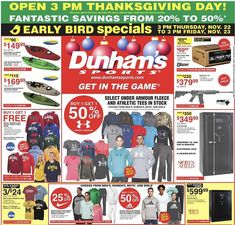 Dunham's Sports Black Friday 2018 Ads and Deals Browse the Dunham's Sports Black Friday 2018 ad scan and the complete product by product sales listing.  #dunhamsports #blackfriday