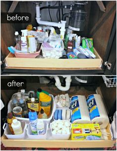 Command Hooks for Organizing the Kitchen - 150 Dollar Store Organizing Ideas and Projects for the Entire Home