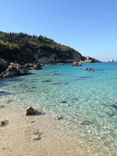 Agios Nikitas #Lefkas #Greece Greek Beauty, Greece Travel, Crete, Wanderlust Travel, Greek Islands, Beautiful Beaches, Places To Visit, Around The Worlds, Jezera