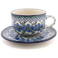 Cup with Saucer 7.5 oz (0.22 L) pattern no. 132   Slavica Polish Pottery, USD…
