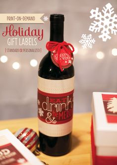 Print-On-Demand #Holiday Gift Labels #Printables
