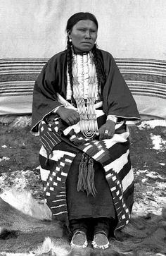 Sioux woman, Alice Good Horse. Photographed at Pine Ridge Agency, South Dakota, ca. 1890-91.