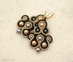 czarno-brązowe kolczyki sutasz z perełkami. $23 Drop Earrings, Jewelry, Fashion, Moda, Jewlery, Jewerly, Fashion Styles, Schmuck, Drop Earring