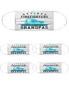 Retired Firefighter Grandpa Gift Mask