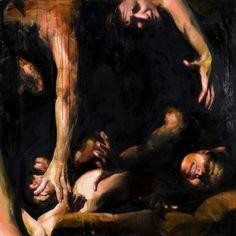 Le disperate strida 5: Roberta Coni, oil on canvas, 2012, cm 120x120