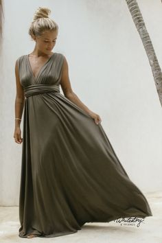 Whitestory & Friends own wrap dress in dark-olive w/ separate top. Perfect as a bridesmaid dress. Shipping worldwide Tailor Scissors, Bridesmaid Dresses, Wedding Dresses, Suits You, Body Shapes, Different Styles, Style Guides, Separate, Wrap Dress