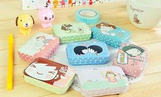 This extra cute Korean and Japanese inspired metal trinket tin, in a range of colours with different character designs. Jewellery Making Courses, Jewelry Making Classes, Jewelry Making Beads, Fine Jewelry, How To Make Metal, Candy Crystals, Cute Stationary, Kawaii Gifts, Candy Jewelry