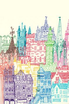 Edinburgh Towers illustration by Chetan Kumar http://cheism.com/