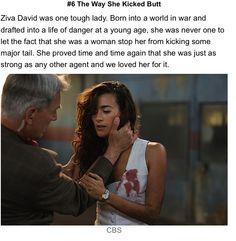 Mossad ninja, the way she kicked butt!!! I love Ziva, in my heart she will never be gone...