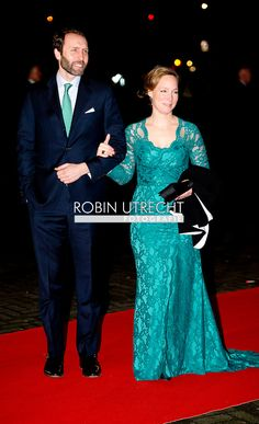 1-2-2014 ROTTERDAM NETHERLANDS Princess Magarita with Tjalling ten Cate arrives for the celebration party for Queen Beatrix to thank fed for being 33 years the Queen of the Netherlands COPYRIGHT ROBIN UTRECHT