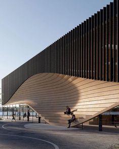 Cultural Architecture, Architecture Paramétrique, Education Architecture, Futuristic Architecture, Contemporary Architecture, Amazing Architecture, Sustainable Architecture, Amphitheater Architecture, Architecture Diagrams