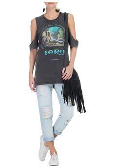 FARM - T-shirt folclore Iara - OQVestir