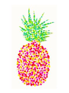 Pineapple Watercolor Print Pineapple Art by FindingSmiles Pineapple Watercolor, Pineapple Art, Watercolor Cards, Watercolor Print, Watercolor Paintings, Pineapple Wallpaper, Lilly Pulitzer Prints, Bee Cards, Tropical