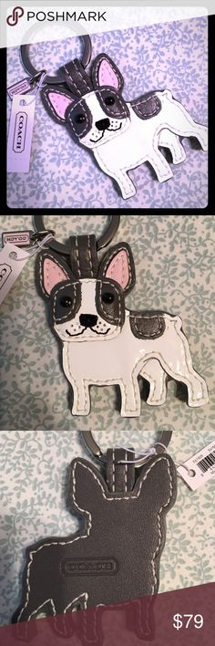 NWT Rare Coach French Bulldog Key FOB Please feel free to ask questions... Coach Accessories Key & Card Holders