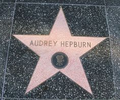 PINK Hollywood Star Of Audrey Hepburn