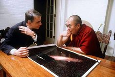 This photo of Carl Sagan and the Dalai Lama talking about the universe is the best thing since the legendary meeting of Albert Einstein and Indian philosopher Tagore. Pair with Sagan on the meaning of life and the Dalai Lama on science.