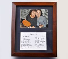 DIY Framed Recipe Want to do this with grandma's recipes :)
