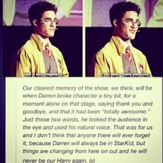 Darren Criss will always be a StarKid Harry Potter Musical, Harry Potter Universal, Harry Potter Fandom, Harry Potter Memes, Avpm, Team Starkid, No Muggles, Mischief Managed, Totally Awesome