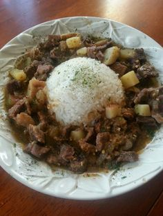 Beef stew & rice