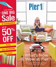 Pier 1 Imports - July 2018 Mailer - Court Yellow Accent Table