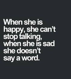 when she is...