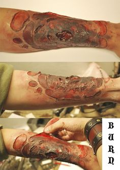 How to make burnt skin - Halloween Makeup  @Pam Van Schijndel