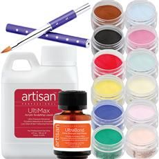 Artisan Acrylic Nail Kit | 12 Best Selling Color Powders - Kit