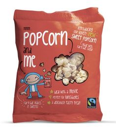 Popcorn & Me.Bag A fun and quirky design for the packaging