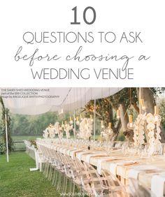 Wedding Venue Questions On Pinterest