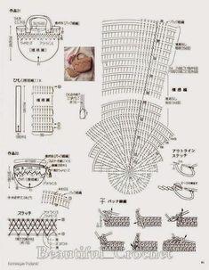 Discover thousands of images about Crochet Knitting Handicraft: crochet bags Crochet Diagram, Crochet Motif, Crochet Yarn, Free Crochet, Crochet Patterns, Crotchet Bags, Knitted Bags, Crochet Clutch, Crochet Handbags