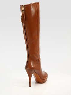 Gucci Betty tall boots. The zipper up the back is awfully sexy.