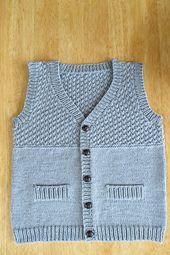 Ravelry: jeanh's Elliott's 6th Birthday Vest