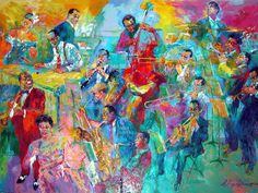 LeRoy Nieman's large-scale painting of this century's music greats debuts at the American History Museum, kicking off Jazz Appreciation Month