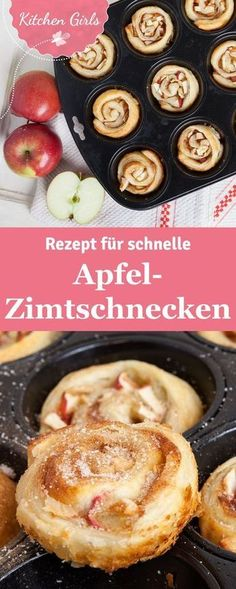 Habt ihr schon mal Apfel-Zimtschnecken in der Muffinform gemacht? Solltet ihr un… Have you ever made apple cinnamon rolls in muffin form? Should you absolutely try! We have the recipe for you. Apple Cinnamon Rolls, Cinnamon Apples, Cinnamon Desserts, Baking Recipes, Cake Recipes, Dessert Recipes, Brunch Recipes, Snacks Recipes, Grilling Recipes