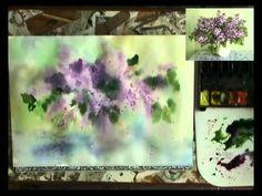 pintar un ramo de lilas