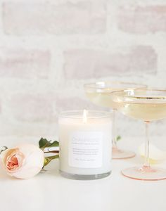Champagne Soy Blend Prosperity Candle for The Little Market
