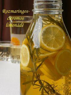 Hankka: Rozmaringos-citromos limonádé Cocktails, Drinks, Pickles, Cucumber, Mason Jars, Healthy Living, Cooking Recipes, Recipies, Foods