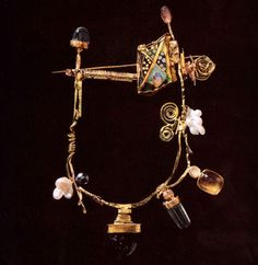 William Harper THE SECOND BARBARIAN'S TRAPEZE 1998 Gold cloisonné enamel on fine silver: 14, 18, 22, and 24 kt gold; moonstones; quartz; agate; pearls