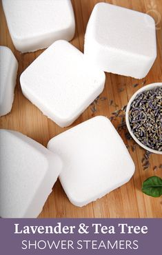Lavender & Tea Tree Shower Steamers Start your morning off right with this recipe. It will fill your shower with a fresh mix of lavender and tea tree essential oil. Bath Bomb Recipes, Soap Recipes, Shower Bombs, Bath Bombs, Do It Yourself Inspiration, Shower Steamers, Diy Shower, Bath Shower, Shower Floor
