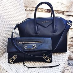 Great friends have cool bags  #balenciaga #givenchy