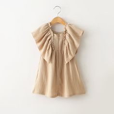 Find More Dresses Information about 2016 Spring New Kids Girls Puff Sleeve Ruffles Party Dress Cotton Linen Beige Color Western Casual Dresses,High Quality dresses less,China dress bat Suppliers, Cheap dress clock from Everweekend Clothing Co.,Ltd on Aliexpress.com