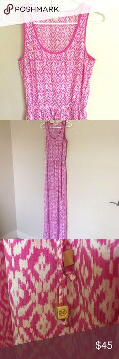 Michael Kors Maxi Dress Michael Kors! Bright pink/purple Maxi Dress with half slit on both sides. Michael Kors Dresses Maxi