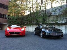 Ferrari California and Maserati Coupe all done for the customer.