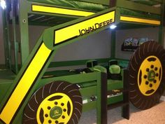 John Deere bunk beds.