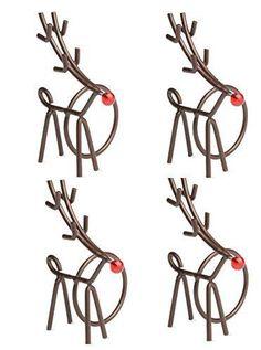 Wonderful Bronze Reindeer Napkin Rings (Set/4)